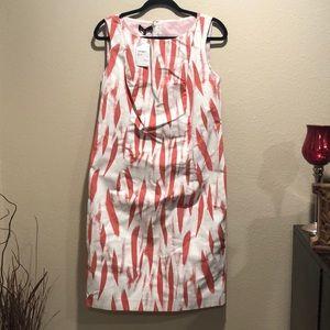 Lafayette 148 New York Pink/White Dress Sz 10